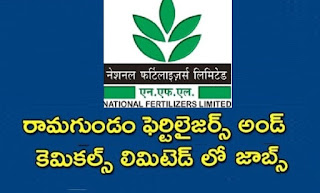 Jobs in Ramagundam Fertilisers and Chemical Limited