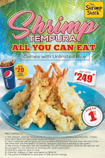 The Shrimp Shack promo, The Shrimp Shack all you can eat