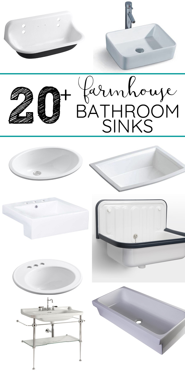 Farmhouse Style Bathroom Sinks
