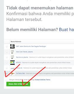 setting Instant article facebook untuk blogger