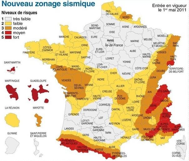Resultado de imagen para zona sismica en francia