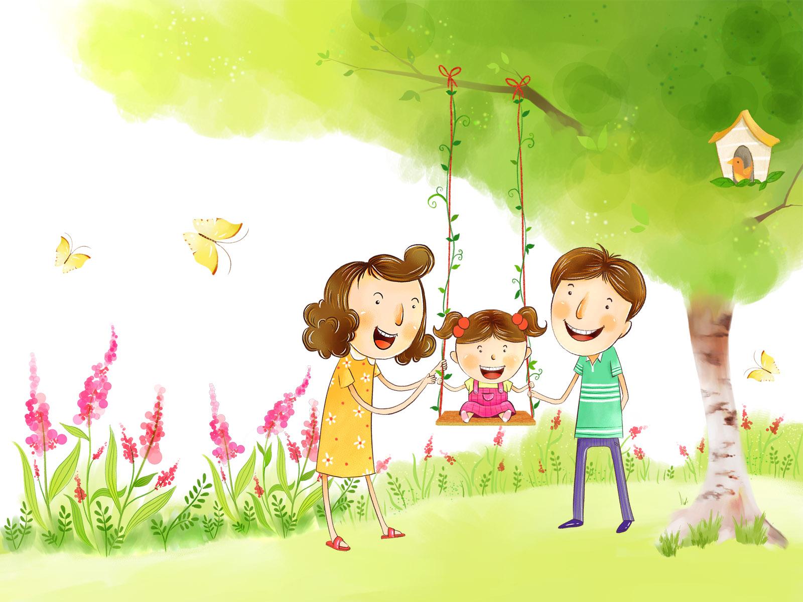 Картинки моя счастливая семья нарисованные