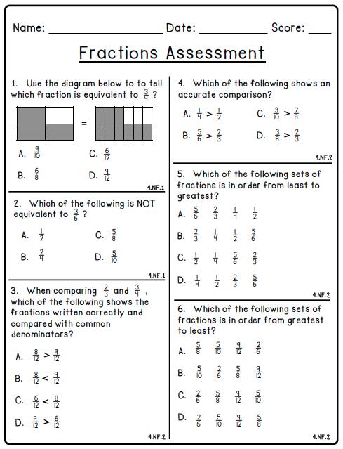 Fractions Worksheets Grade 9 & math worksheets