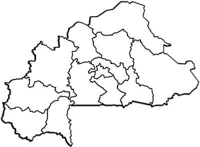 image: Burkina Faso Map Blank White