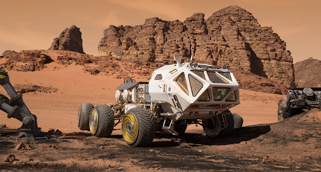 Rover image from The Martian movie