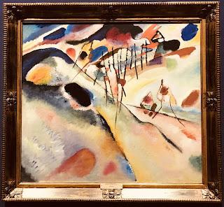 The State Hermitage Museum's oil on canvas by Wassily Kandinsky entitled 'Landscape: Dünaberg near Murnau', 1913