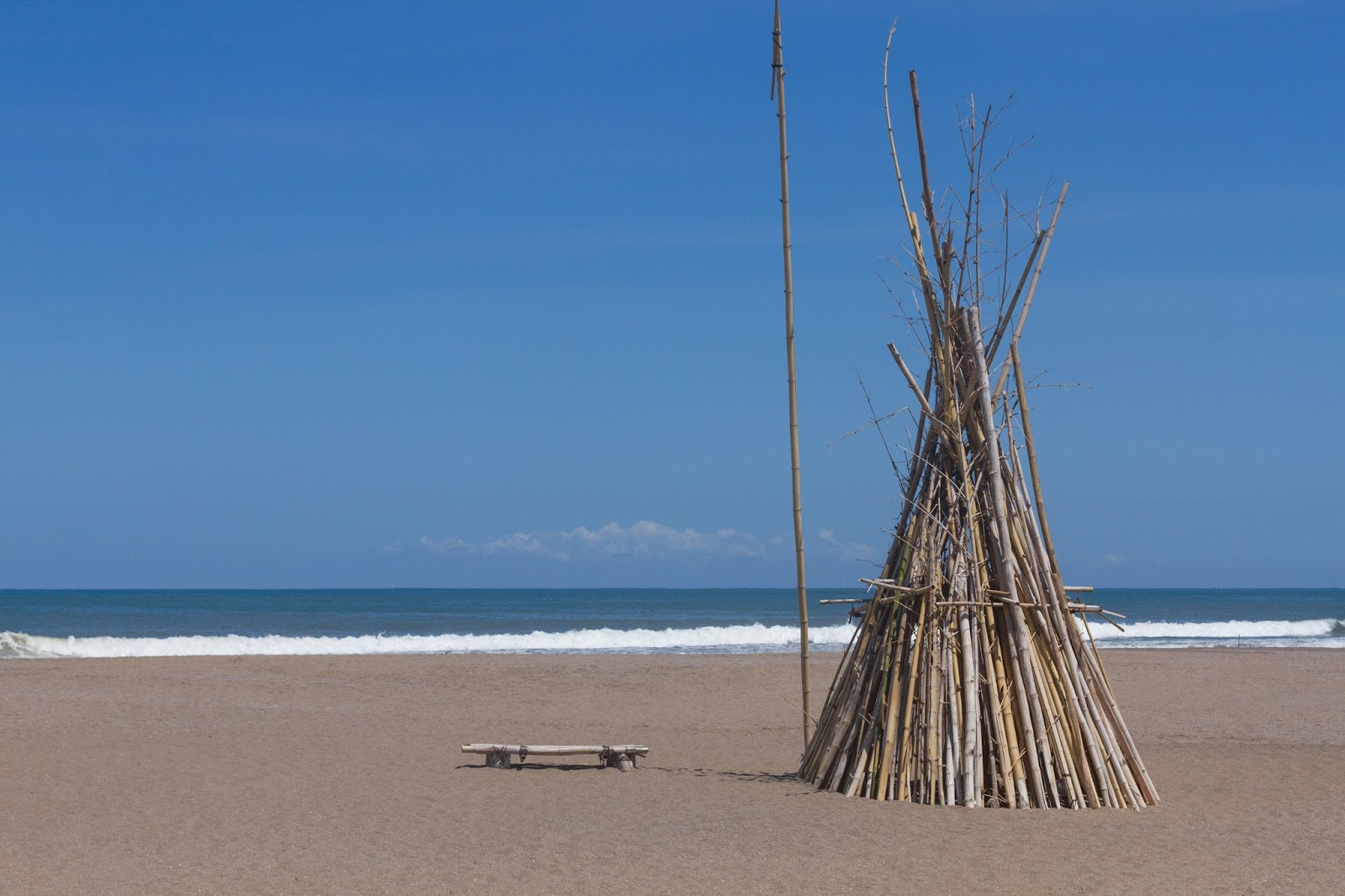 tipi at Berawa Beach in Canggu, Bali