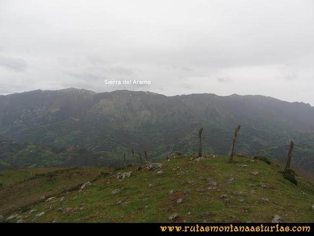 Ruta Ablaña Llosorio:  Vista del Aramo desde la cima del Llosorio