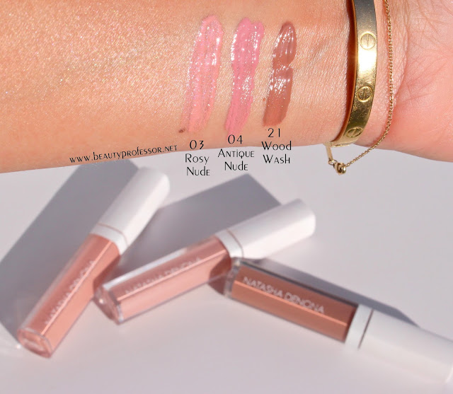 natasha denona lip gloss swatches