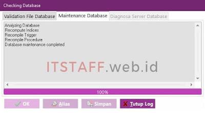 Ok Maintenance Database EASY6 - ITSTAFF.web.id