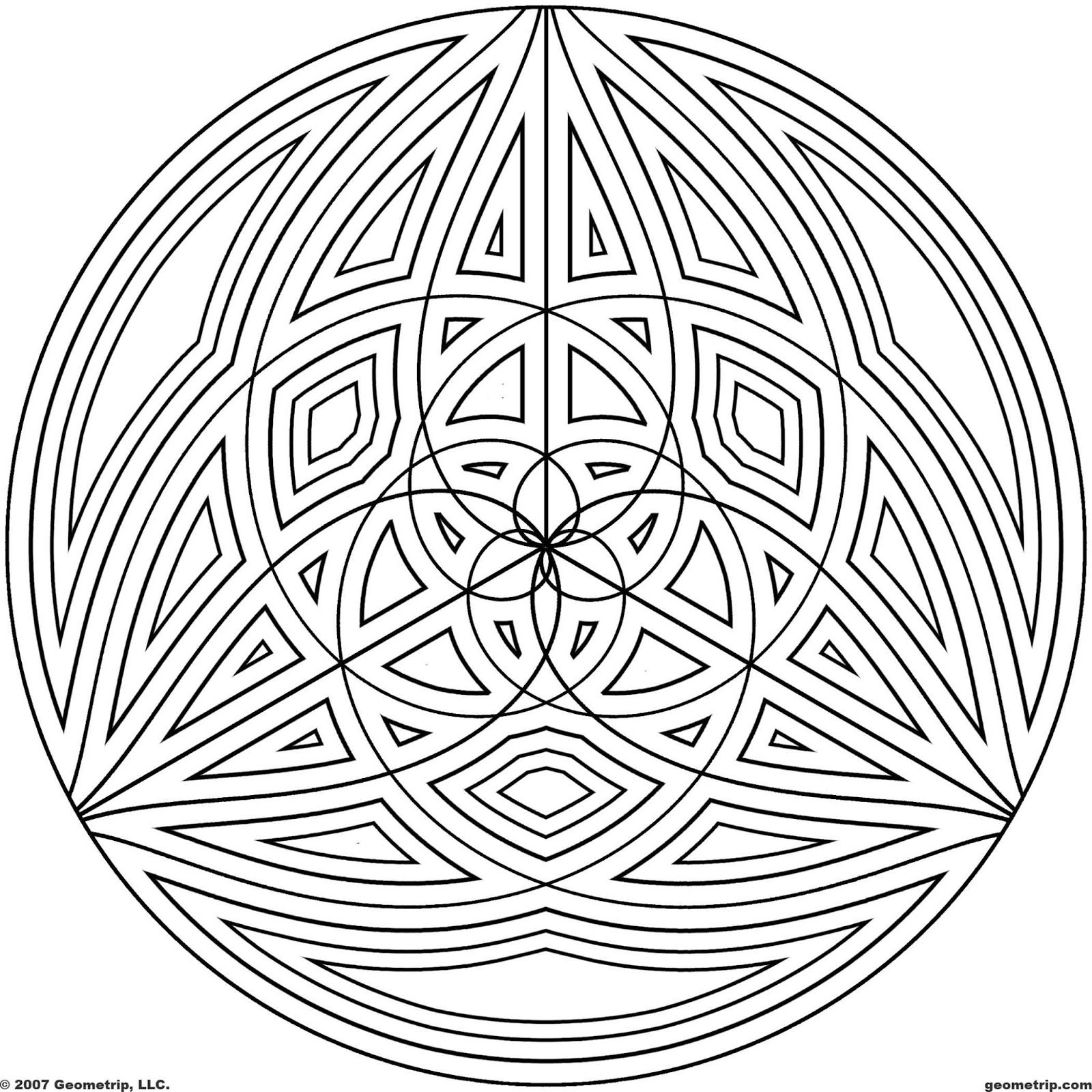 geometric coloring pages cool - photo#15