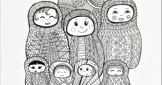 Drawingd from the Big White Book: Russian Dolls