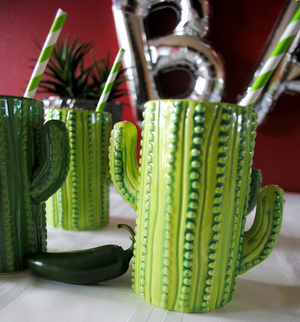 Cactus - glasses - taco - bar- party - inspiration