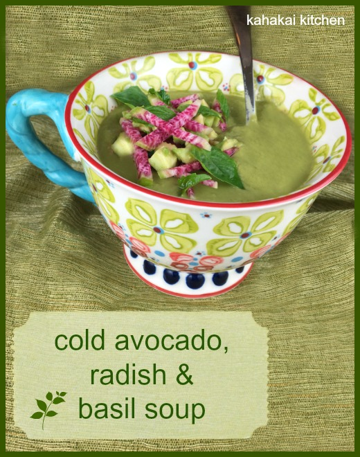 Avocado, Radish & Basil Soup: Easy, Cold Summer Soup for Souper (Soup ...