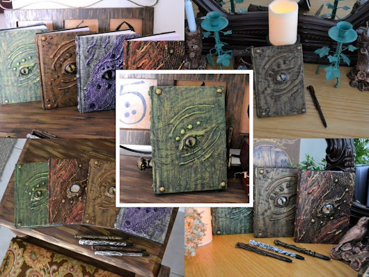 Shop update Oct 1. Dragon Eye Journals and Sketchbooks