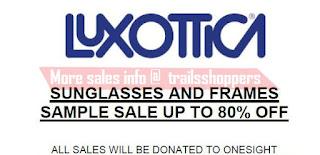 Luxottica Sunglasses & Frames Sample Sale 2016