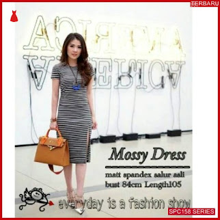 SPC158M40 Mossy Dress Spandek Bhn Dress Wanita | BMGShop