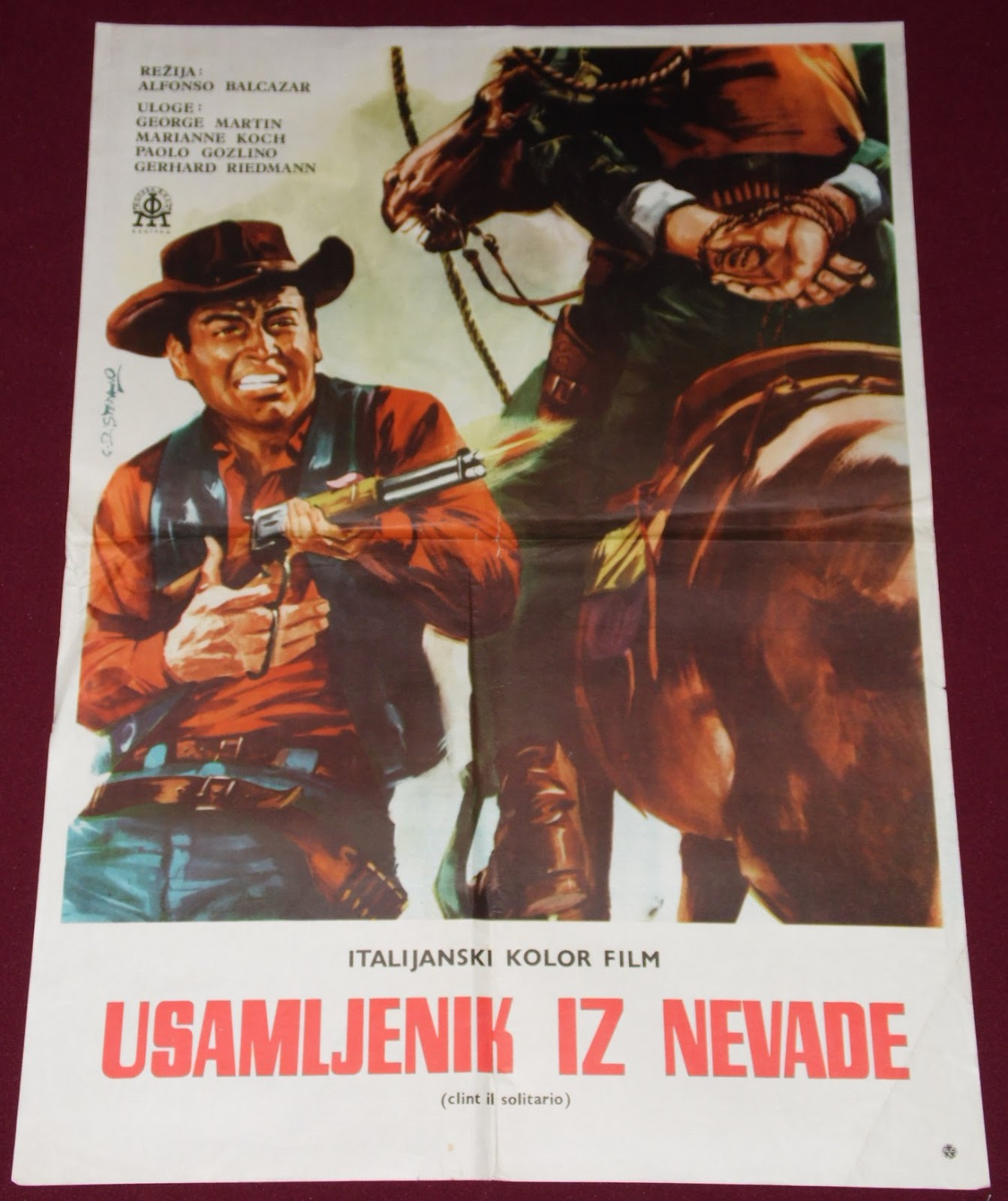 YugoRare Movie Posters: Clint The Stranger (1967) Clint El
