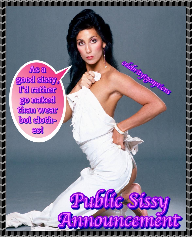Celebrity TG Captions: Public Sissy Announcement