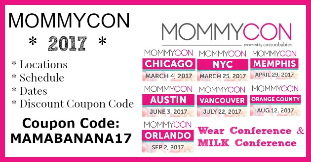 mama banana 39 s adventures mommycon discount coupon code 2017. Black Bedroom Furniture Sets. Home Design Ideas