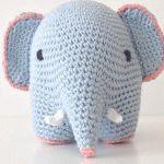 patron gratis elefante amigurumi