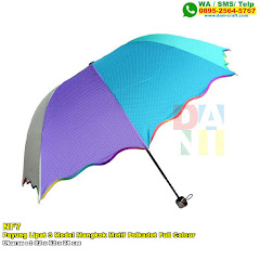 Payung Lipat 3 Model Mangkok Motif Polkadot Full Colour