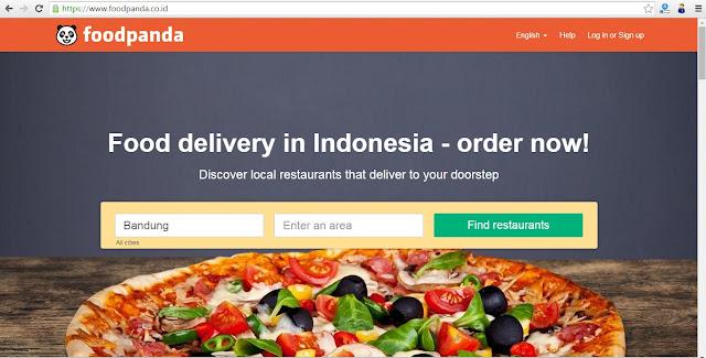 Tampilan Website Foodpanda