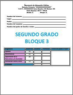 Exámenes Segundo grado Ciclo Escolar 2017-2018