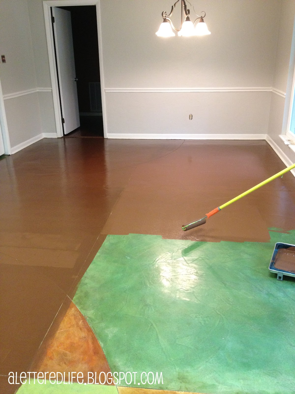 A Lettered Life Progress And Painted Floors