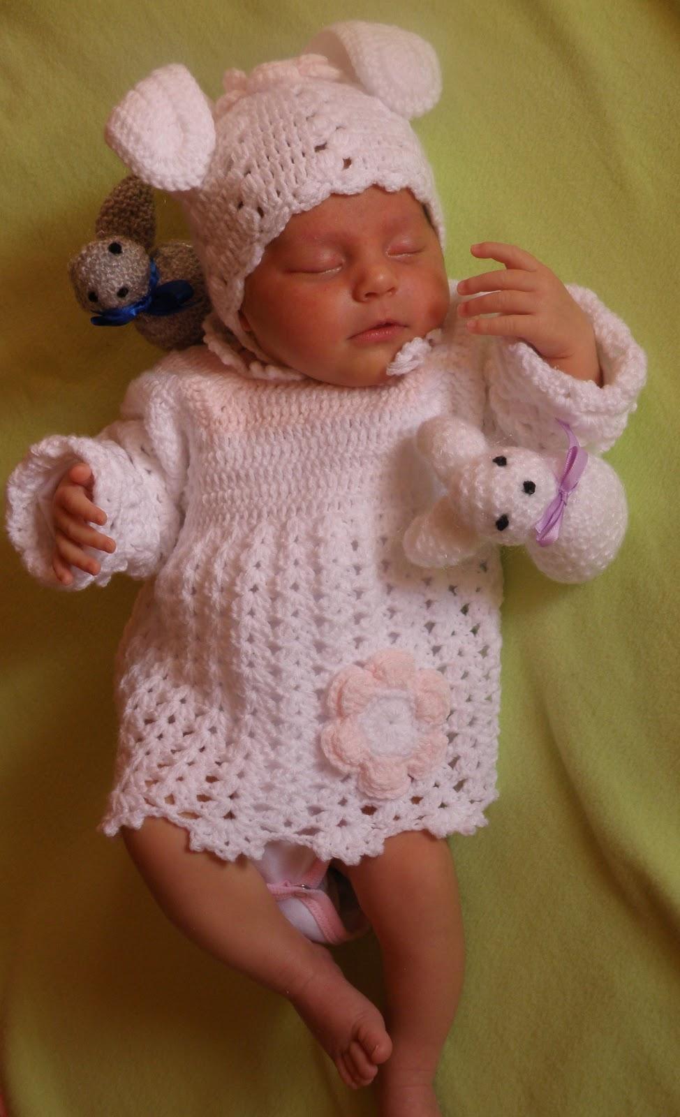 Wszystkie nowe Szydełkowe i na drutach ubranka dla dzieci: Zajączek - szydełkowy ME36