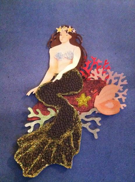 Art Nouveau Mermaid Time Craft