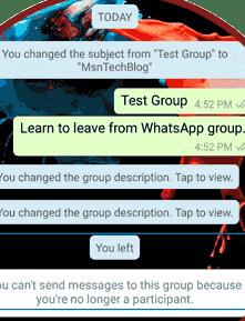 Cara Meninggalkan Grup Chating WhatsApp Secara Permanen 5