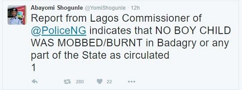 Jungle Justice: Read What Police Revealed About the Boy Burnt to Death in Lagos...See Details
