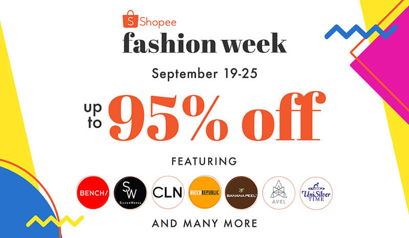 Shopee Fashion Week kicks off with up to 95 percent off!