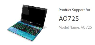 Download Driver Acer Aspire One 725 (AO725) Windows 7 32 dan 64 bit, Windows 8 dan Windows 8.1 64 bit