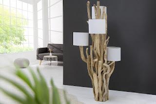 Designova lampa stojací.