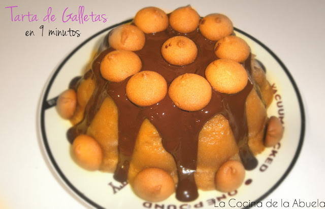 tarta galleta chocolate pudin receta 9 minutos pasos