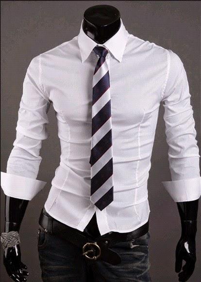 Camisa Social Slim Fit Estilo Luxo Lisa - 10 Cores (Branca, Cinza, Preta, Azul) (MH742)