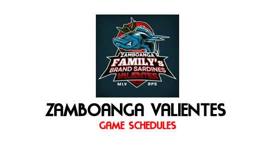 LIST: Game Schedule Zamboanga Valientes 2018 MPBL Anta Datu Cup