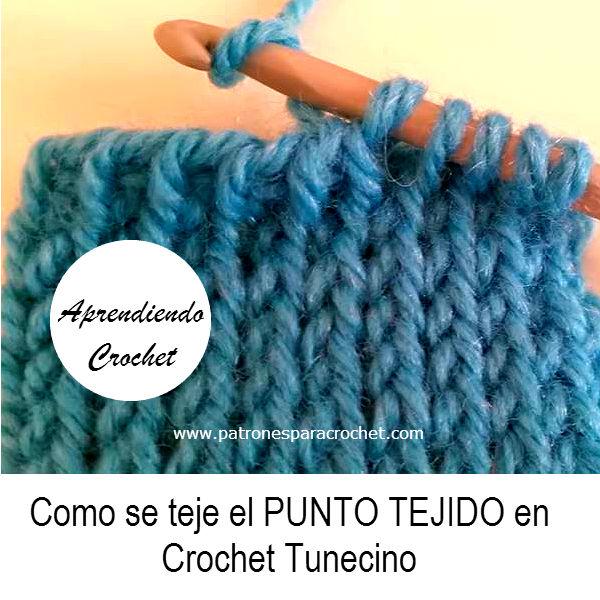 Aprendemos a tejer el Punto Tejido en Crochet Tunecino / Video ...