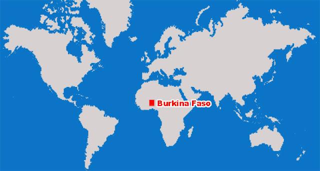Gambar Peta letak negara Burkina Faso
