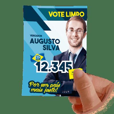 santinho do vereador augusto silva 12.345