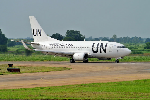 Image Attribute: A United Nations Humanitarian Air Service Boeing 737-500 operated by UTair Source: Wikipedia