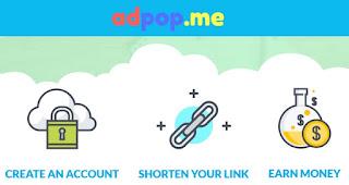 Adpop.me - Acorta enlaces y gana dinero