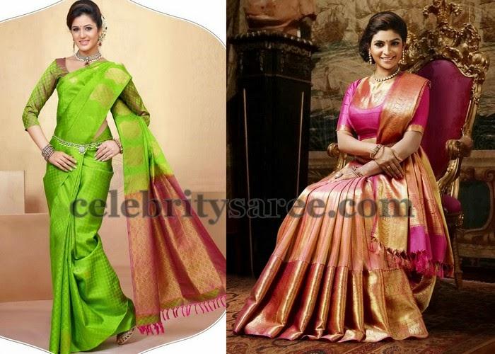 Soft Traditional Sarees By Chennai Silks Saree Blouse Patterns