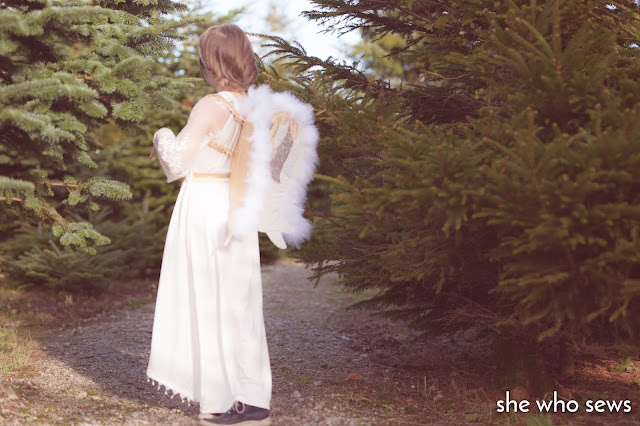 White feathery angel wings