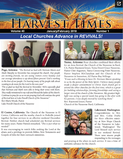Harvest Times, Volume 40 Number 1, January - February 2018