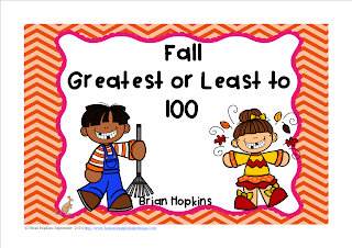 https://www.teacherspayteachers.com/Product/Fall-Greatest-and-Least-to-100-Task-Cards-FREEBIE-2796801