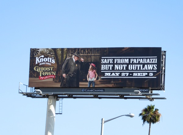 Knotts Berry Farm Ghost Town paparazzi outlaws billboard