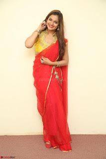 Actress Ashwini in Golden choli Red saree Spicy Pics ~  121.JPG